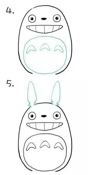 【一起学画画】9步画龙猫