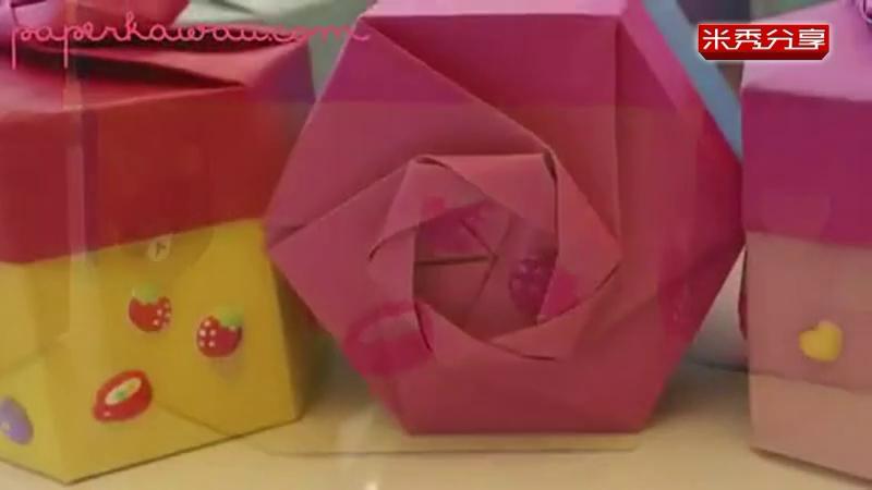 折纸六角礼盒 手工制作大全