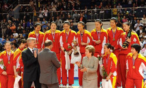 中国队获得冠军
