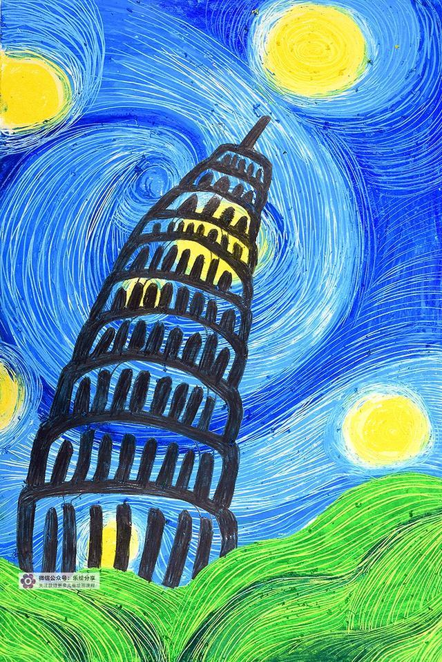 南京风景少儿手绘作品