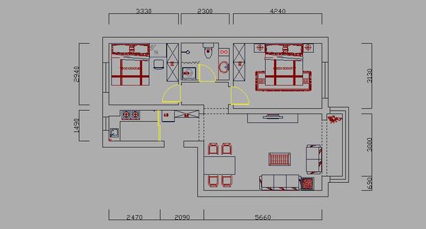 财位的最佳位置是在进门的对角线方位 怎么看 图的左下角高清图片