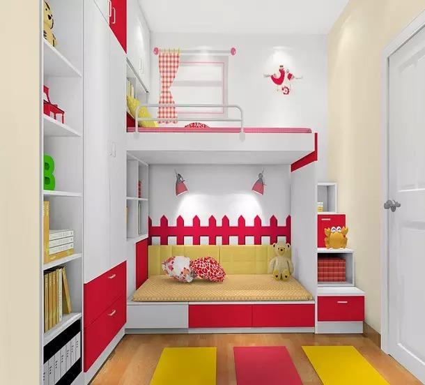 儿童房,榻榻米,儿童房装修,榻榻床,装修效果图
