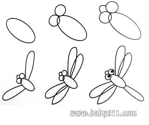 蜻蜓的剪法 步骤