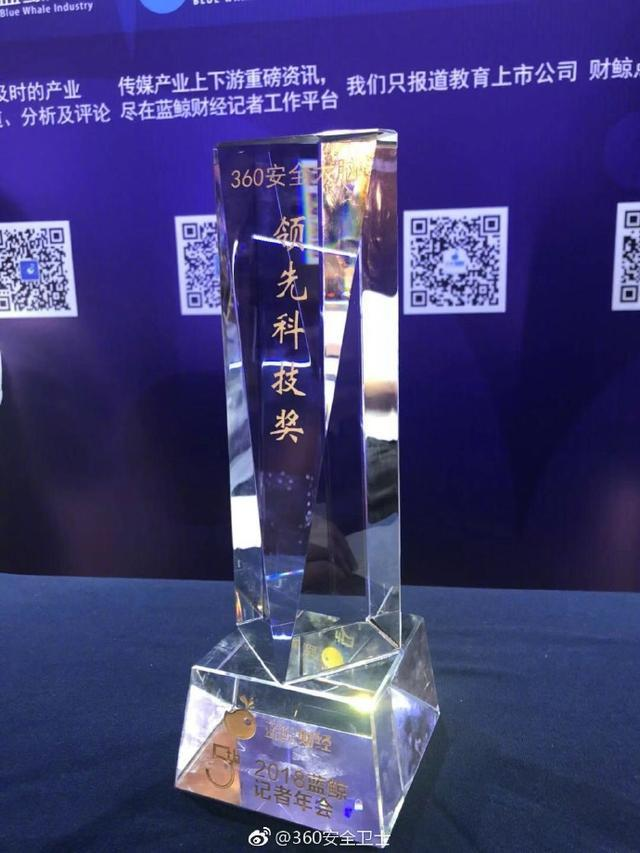 360安全大脑荣获2018年度领先科技奖!