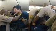 男子飞机上乱摸女乘客被电击