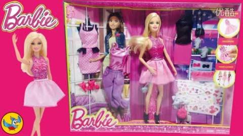 芭比娃娃的新衣服|女孩换装过家家玩具套装