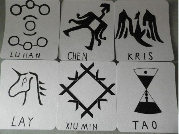 exo鹿晗手绘 标志是什么样子的