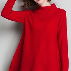 秋冬羊毛衫 新款韩版新年大红色毛衣