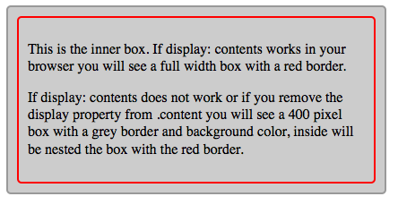 simple example of display contents