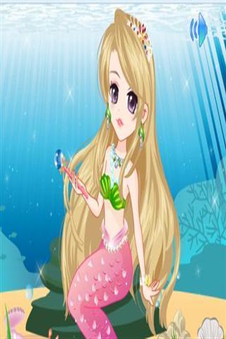 超级可爱的人鱼公主需要你的帮助来打扮她!