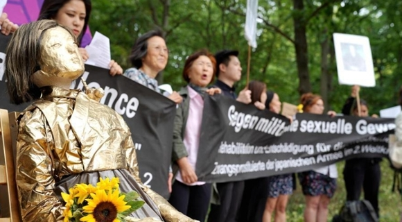 韩日民间团体在德国集会 要求日本向慰安妇赔偿