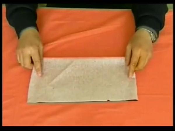 diy剪纸教程-八折团花剪法