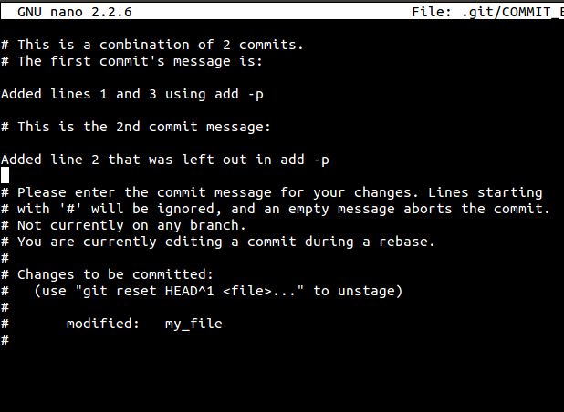 Adding a commit message