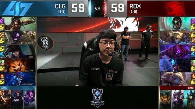 CLG中单龙王完美发挥击败ROX