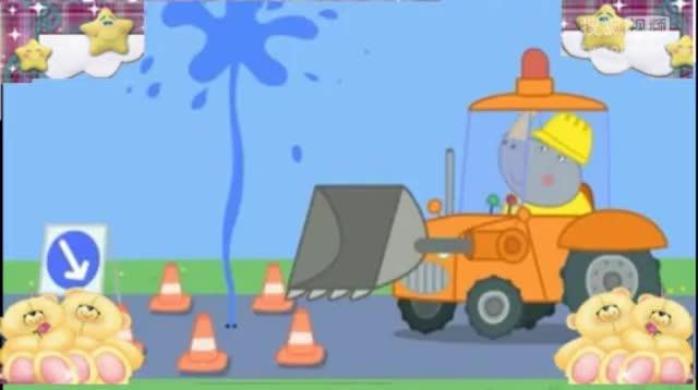 小猪佩奇 小猪佩奇玩具视频 粉红小猪开汽车动画片
