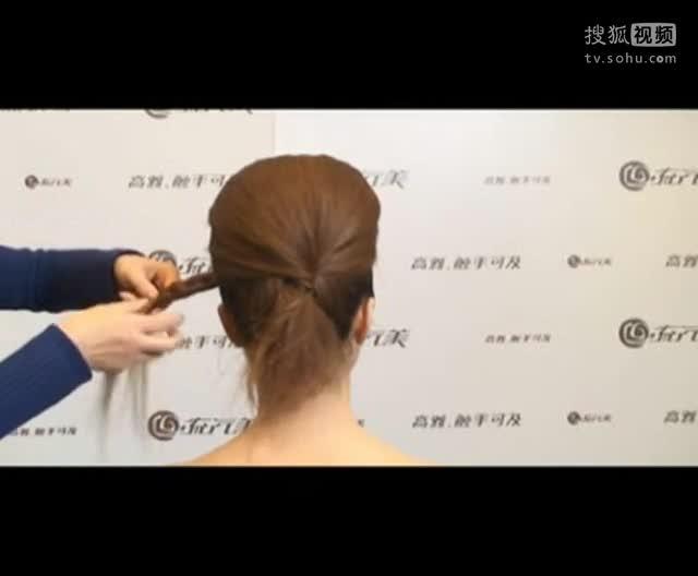 长发盘发发型扎法 短发盘发发型扎法视频b