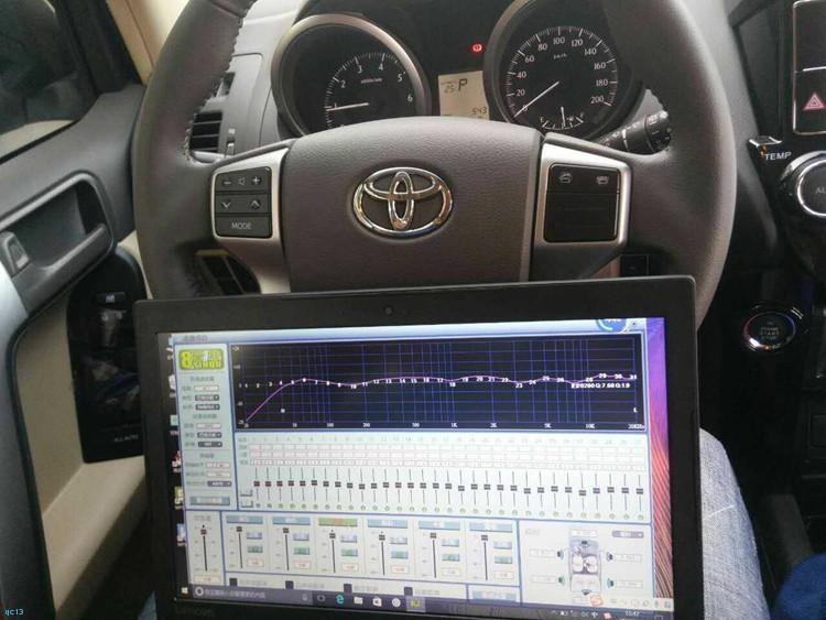 唐山丰田霸道音响改装升级8音度dsp,好声音带来好心情