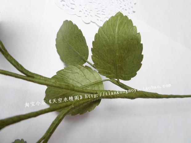 请问这种叶子是怎么用纸剪出来的,好像真的一样,知道的可以具体说下