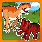 恐龙拼图的幼儿
