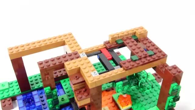 乐高积木:乐高我的世界 21125丛林树屋-儿童益智玩具-美眉游戏吧