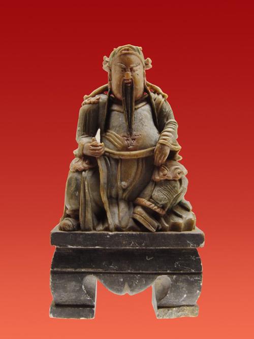 (图)关羽坐雕像