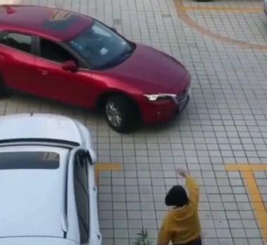 女司机开车倒不进车位她想的办法火遍网络网友:驾照是考的吗