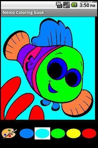 尼莫鱼海底世界线描画