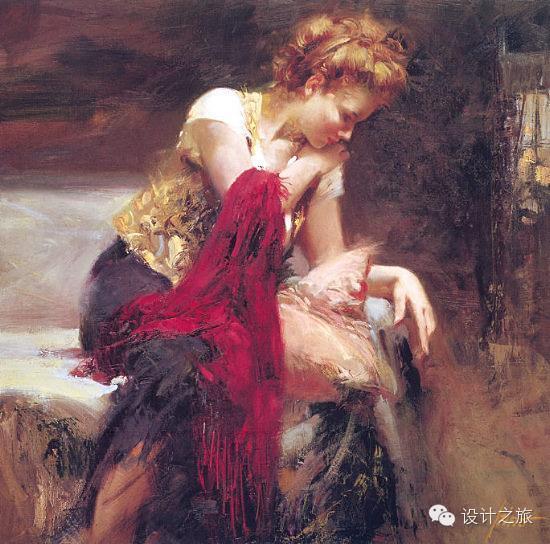 意大利畫家Pino Daeni油画作品 - 及时渔、及时语 - 及时渔的空间