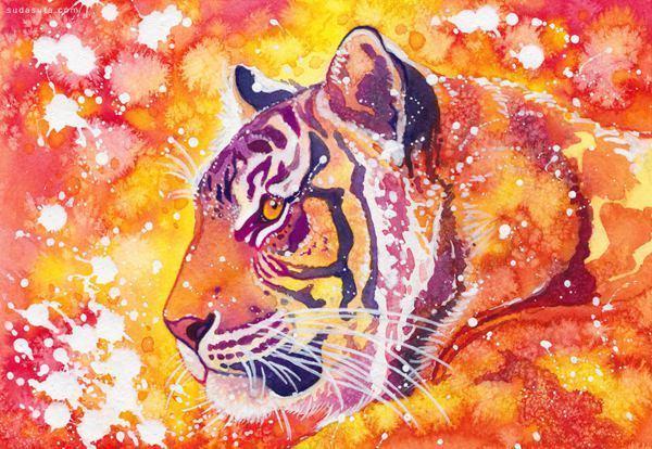 怎么用水粉颜料画动物