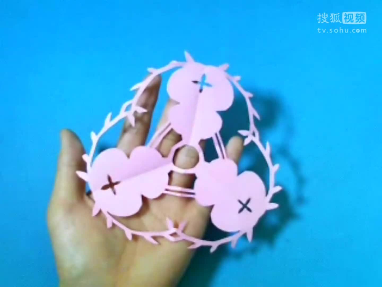 剪纸葫芦团花 剪纸视频教程大全 儿童亲子手工diy教学 简单剪纸.