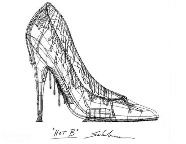 高跟鞋 手绘 设计图 简笔画图片
