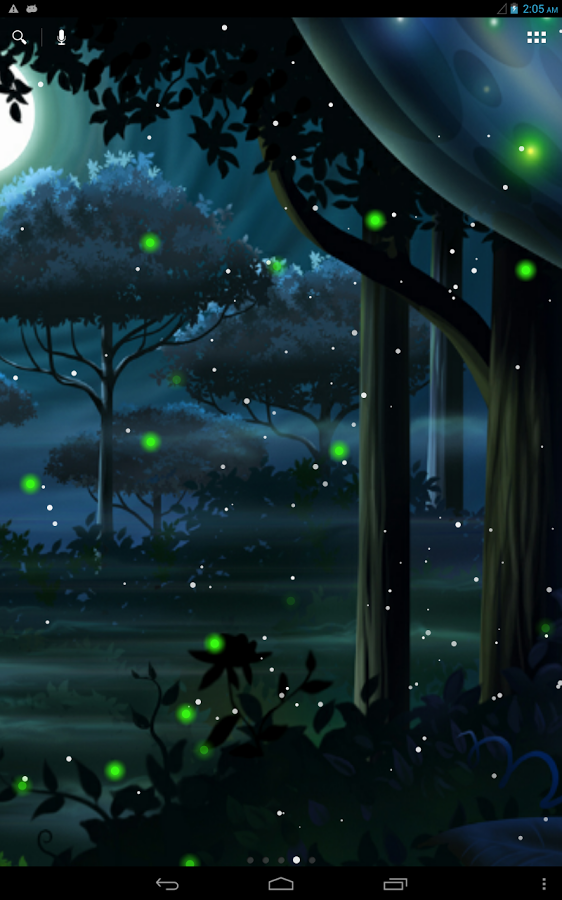 萤火虫之森壁纸 萤火虫手机壁纸 薄荷之夏壁纸