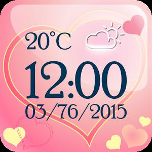 """你将有时间和日期,""""天气预报""""在你手与可爱的""""爱时钟""""掌 - 刚刚得到"""