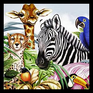 屏幕上或在幻灯片放映中播放的音乐,看所有的动物在混合音频的右下角