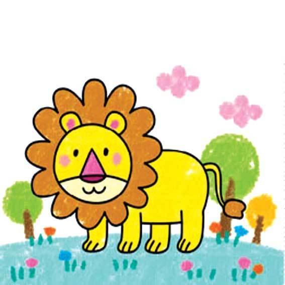 狮子的简笔画 要涂色的
