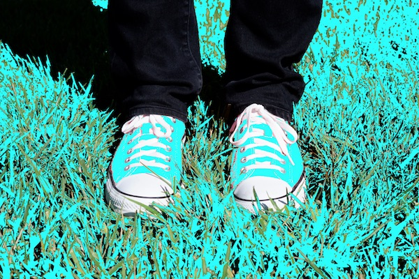 hober's bright orange shoes, but with all the out-of-gamut pixels replaced by blue