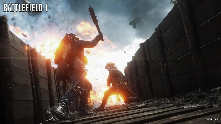 《战地1》游戏场景