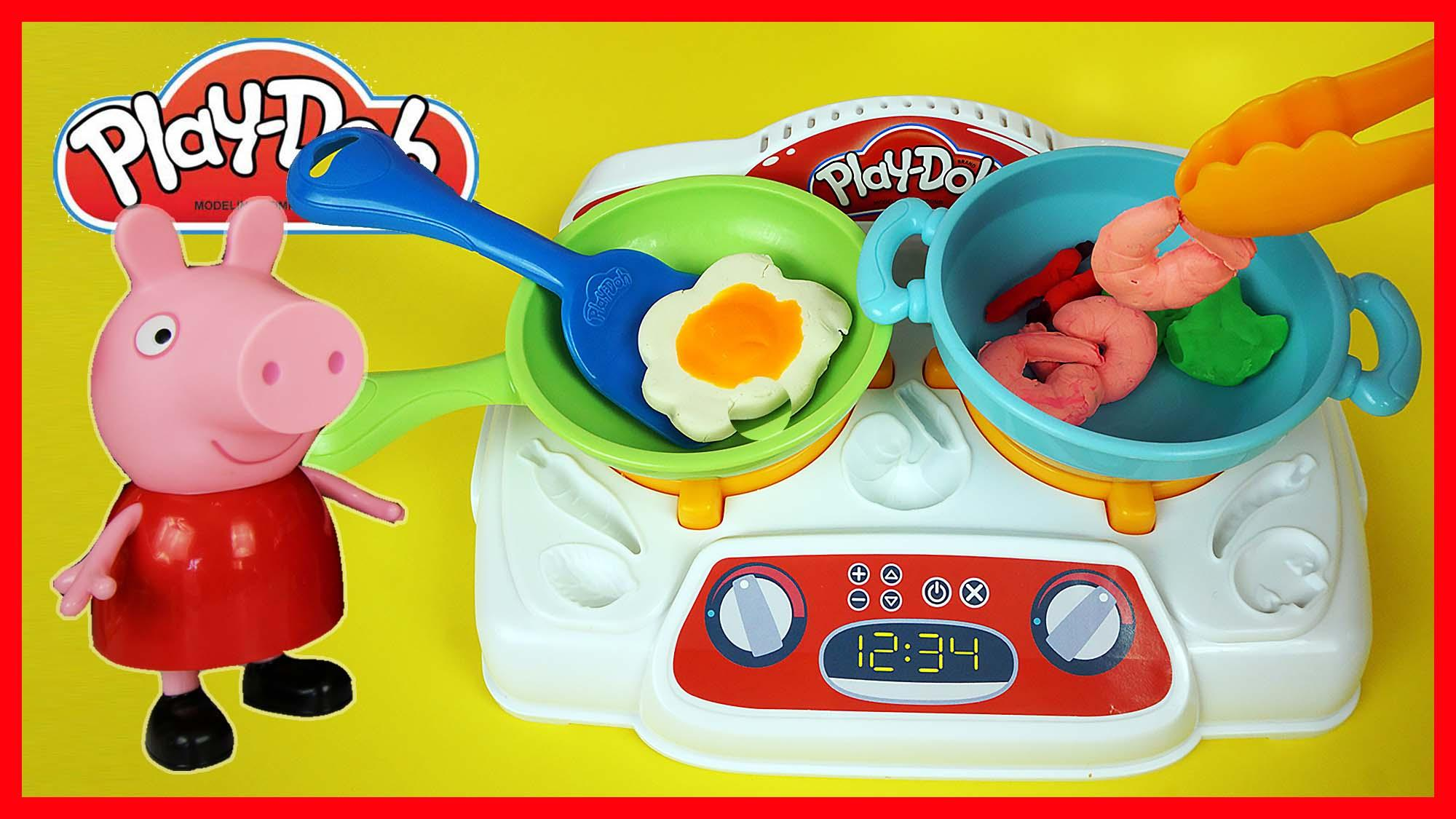 小猪佩奇玩培乐多厨房玩具 橡皮泥彩泥儿童手工亲子游戏