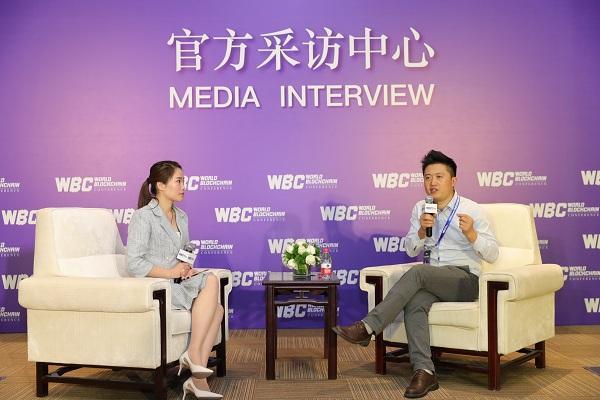 世界区块链峰会 专访stbchain ceo刘海峰图片