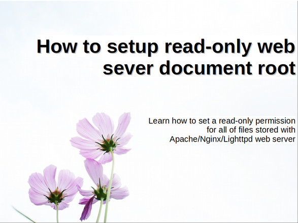 Proper read-only permissions for Linux/Unix Nginx/Apache web server's directory
