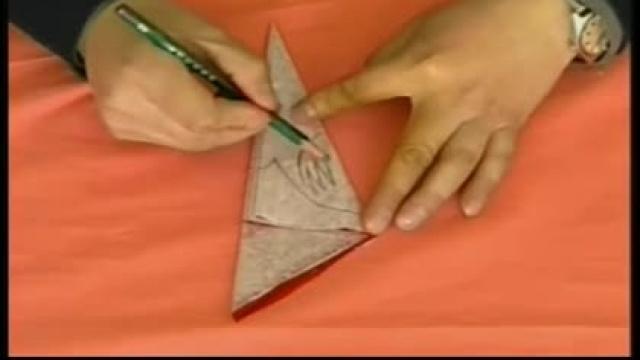 剪纸教程-八折团花剪法