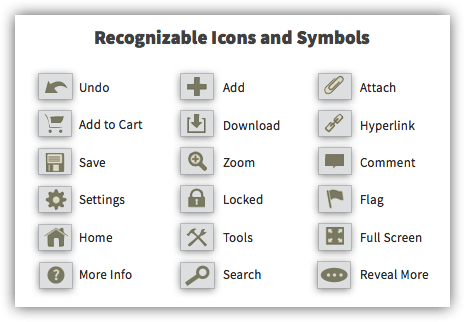 Best Practice #68 - Use Icons and Symbols to Convey the Meaning of an Interaction