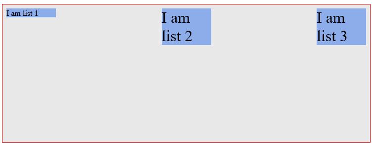align-items: flex-start