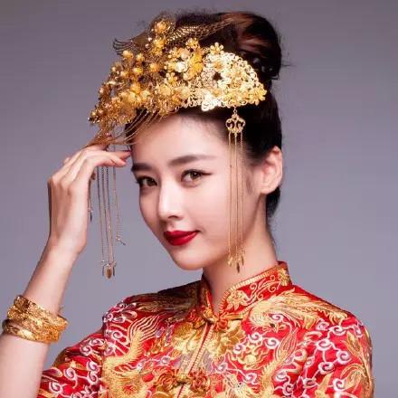 绝美中式新娘发型,中来自:我是婚纱控国女人都爱!