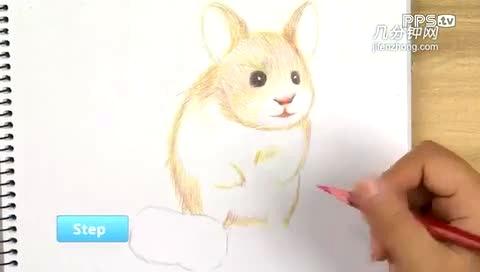 如何用彩色铅笔画小仓鼠