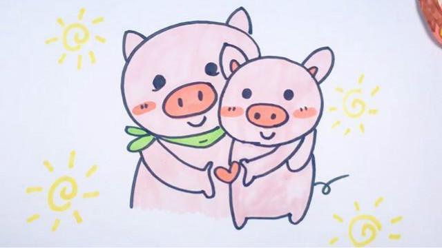 可乐姐姐学画画-两只小猪