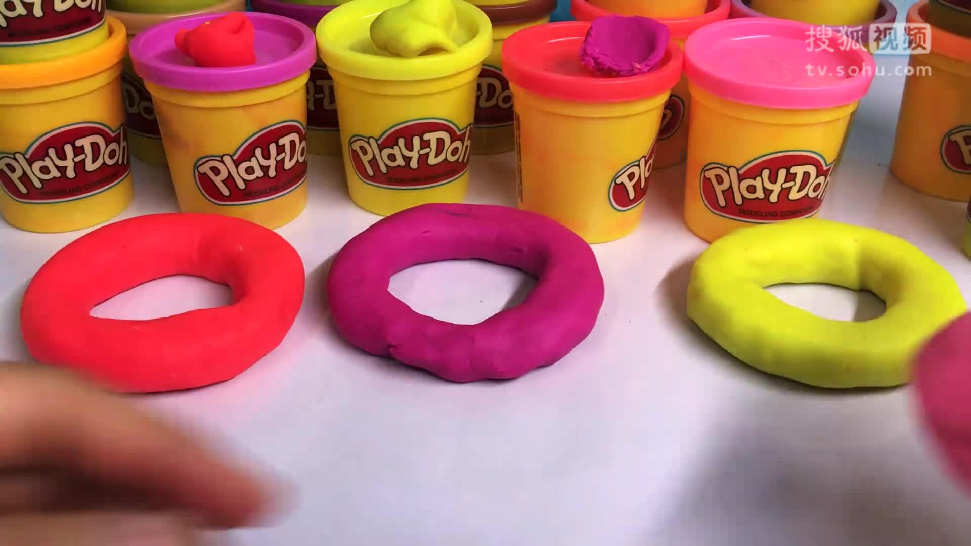 培乐多彩泥做甜甜圈 手工制作视频
