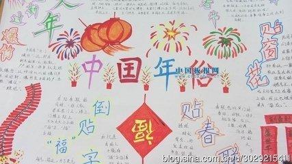 我爱中国年手抄报内容图片