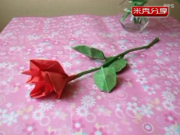 玫瑰花束折法-手工制作大全