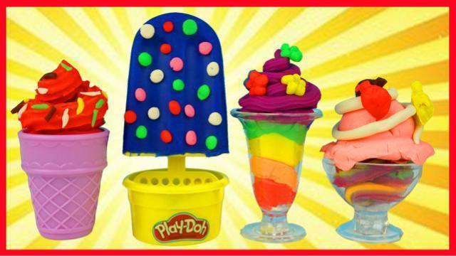 培乐多橡皮泥彩泥冰棒冰糕冰淇淋甜点玩具,过家家亲子游戏
